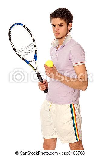 playing tennis - csp6166708