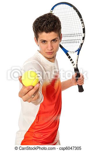 playing tennis - csp6047305