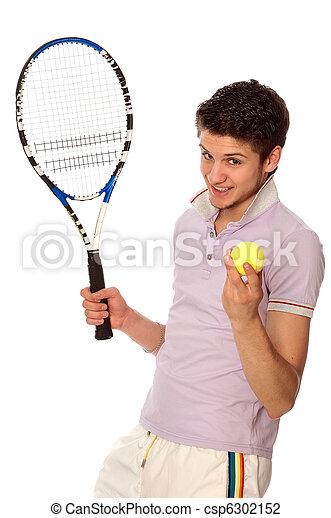 playing tennis - csp6302152