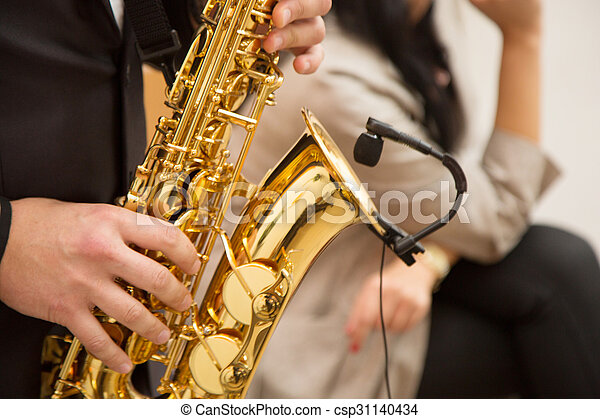 playing the saxophone - csp31140434