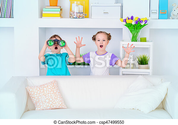 playing together at home - csp47499550