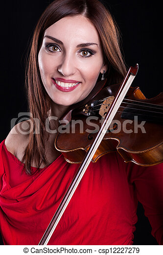 playing violin - csp12227279