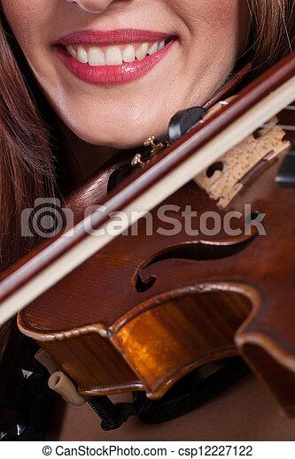 playing violin - csp12227122