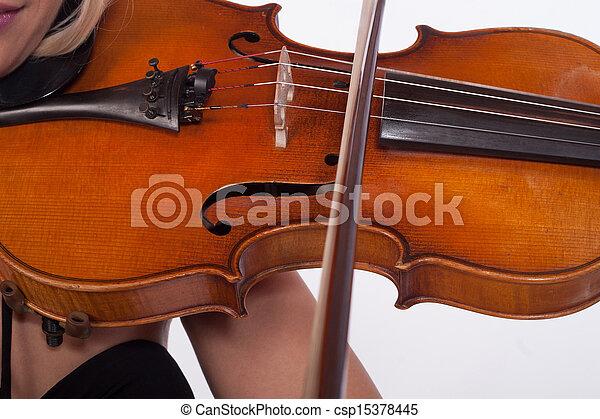 Playing violin - csp15378445