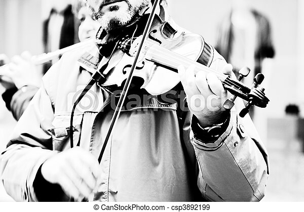 Playing violin - csp3892199