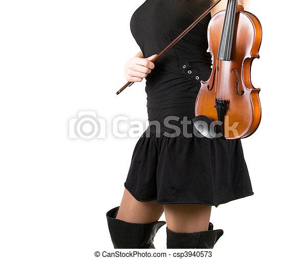 Playing violin - csp3940573