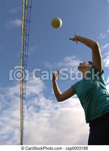 Playing Volleyball - csp0003188