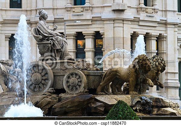 Plaza de Cibeles Fountain, Madrid, Spain - csp11882470