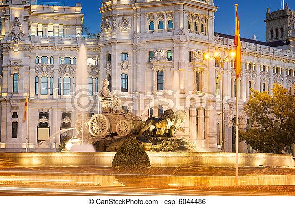 Plaza de la Cibeles Madrid - csp16044486