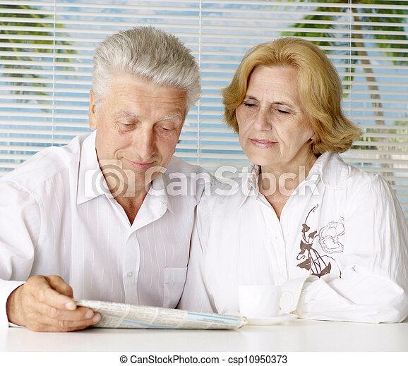 Pleasant couple at the resort - csp10950373