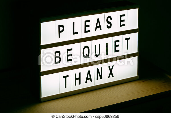 please be quiet thanx message sign please be quiet thanx vintage