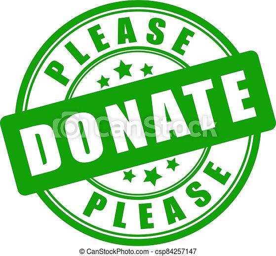 Please donate vector sign - csp84257147