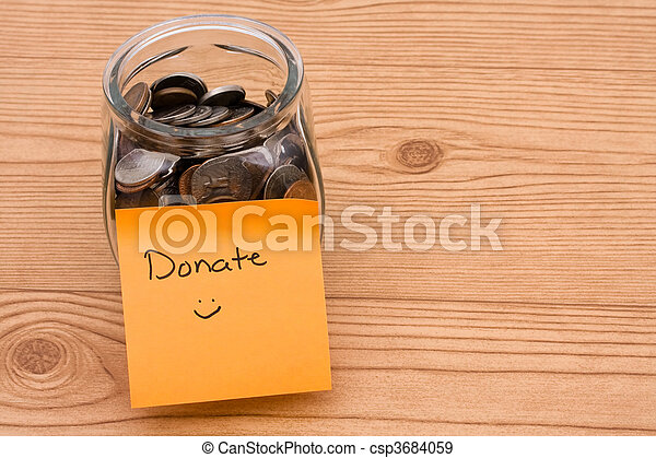Please help by donating money - csp3684059
