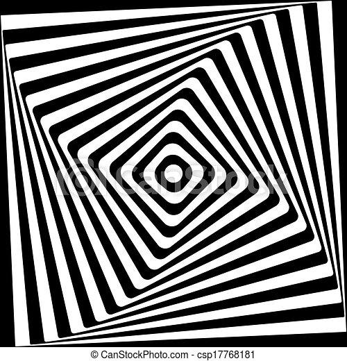 plein, model, abstract, spiraal, achtergrond., black , witte  - csp17768181