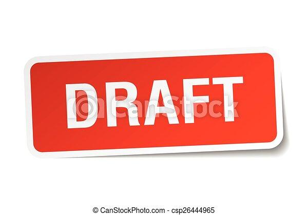 plein, sticker, vrijstaand, wisselbrief, wit rood - csp26444965
