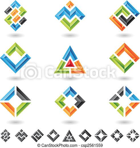 pleinen, rechthoeken, driehoeken - csp2561559