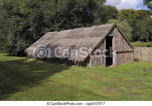 plemienny, starożytny, mieszkanie - csp0107517