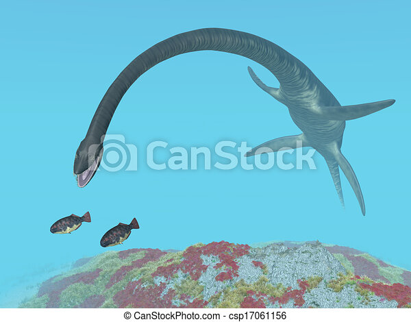 computer generated 3d illustration with the prehistoric plesiosaur