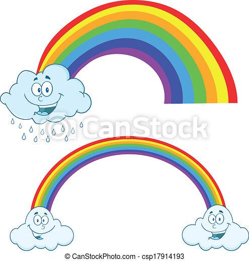 Pleuvoir Nuages Arc En Ciel
