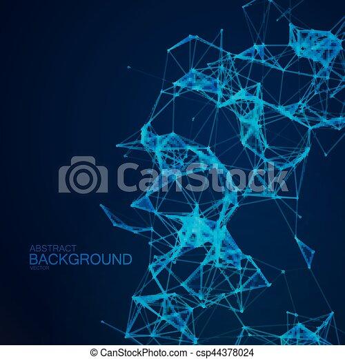 Plexus Lines And Particles Background. - csp44378024