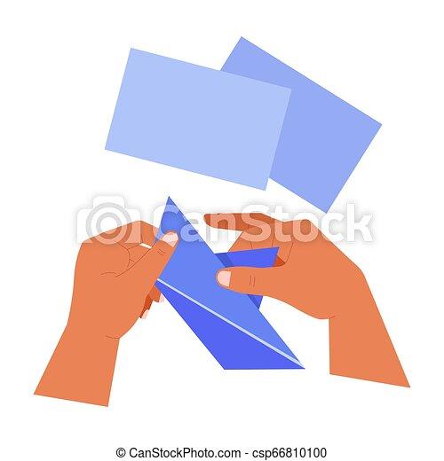Plier Papier Feuilles Mains Origami Bateau Art Creation Japonaise Papier Passe Temps Origami Bateau Competence Canstock