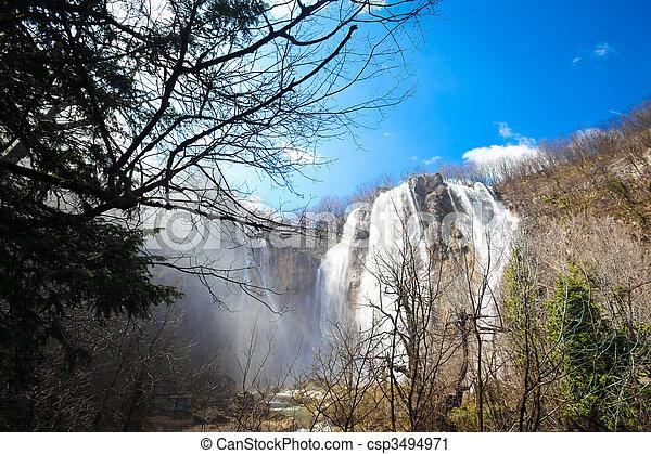 plitvice falls - csp3494971