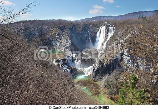 plitvice falls - csp3494993