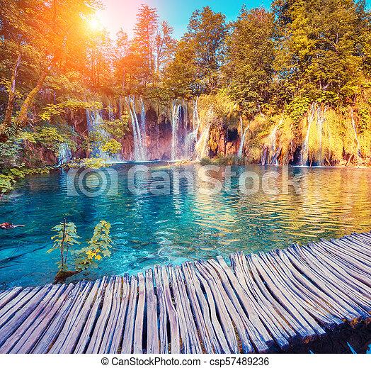 Plitvice Lakes National Park - csp57489236