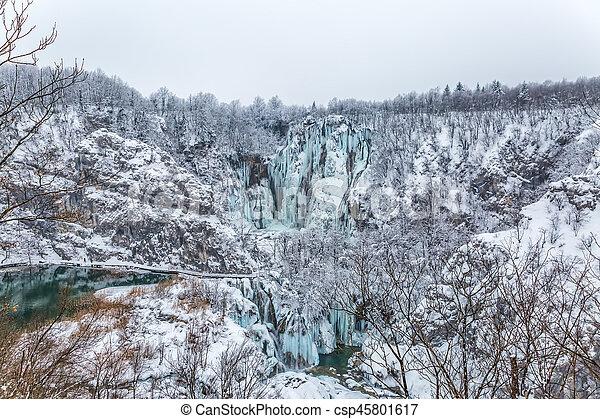 Plitvice lakes panorama - csp45801617
