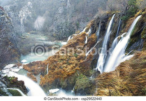 plitvice, nemzeti park, tavak - csp29522440
