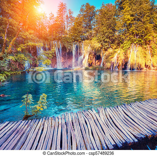 plitvice, nemzeti park, tavak - csp57489236