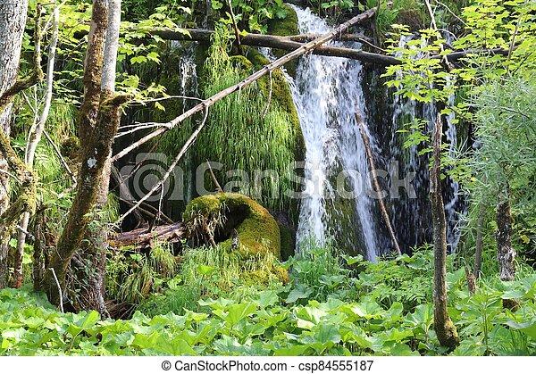 Plitvice Waterfalls, Croatia - csp84555187