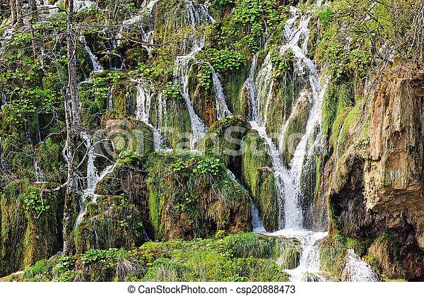 Plitvice waterfalls in Croatia - csp20888473