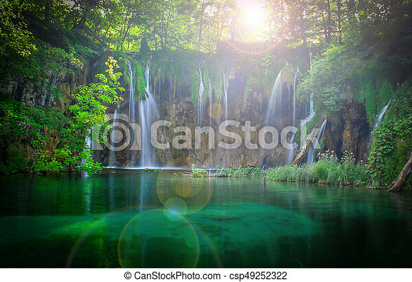 Plitvice waterfalls - csp49252322