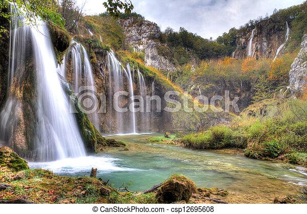 Plitvice waterfalls - csp12695608