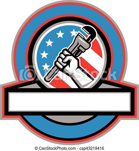 El círculo de banderas de USA - csp43219416