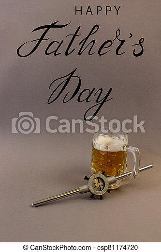 plomero, padre, trabajador, mecánico, constructor, tarjeta de felicitación, día - csp81174720