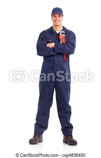 Trabajador de ciruelas - csp4838450