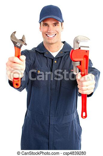 Trabajador de ciruelas - csp4839280