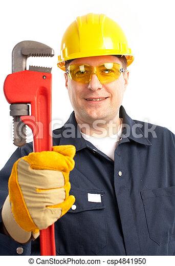 Trabajador de ciruelas - csp4841950