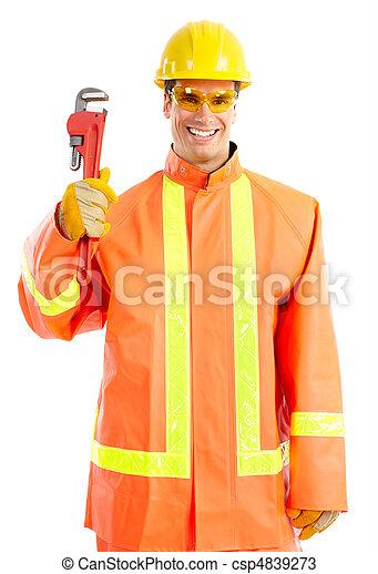 Trabajador de ciruelas - csp4839273