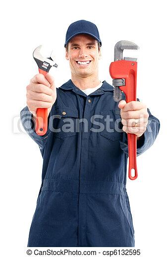 Trabajador de ciruelas - csp6132595