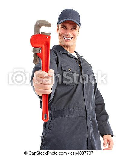 Trabajador de ciruelas - csp4837707