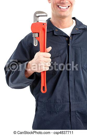 Trabajador de ciruelas - csp4837711
