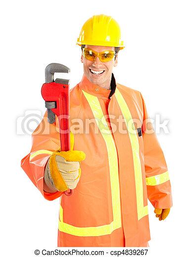 Trabajador de ciruelas - csp4839267