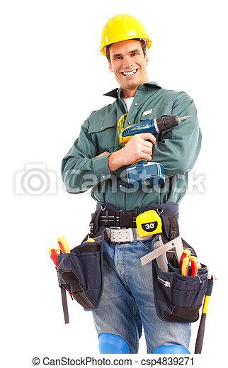 Trabajador de ciruelas - csp4839271