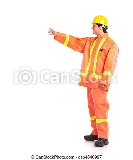 Trabajador de ciruelas - csp4840997