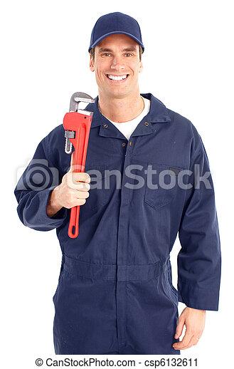 Trabajador de ciruelas - csp6132611