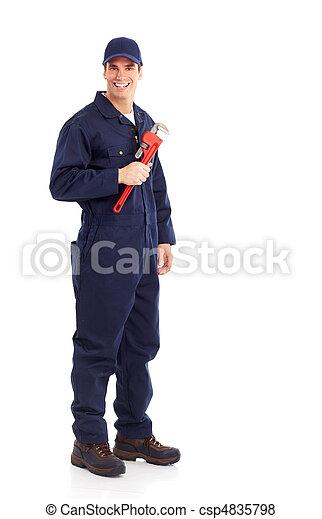 Trabajador de ciruelas - csp4835798