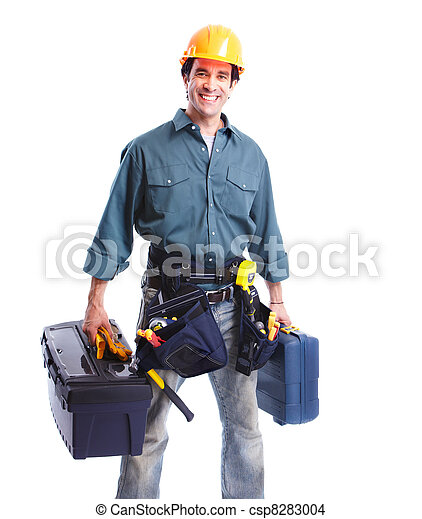 Trabajador de ciruelas. - csp8283004